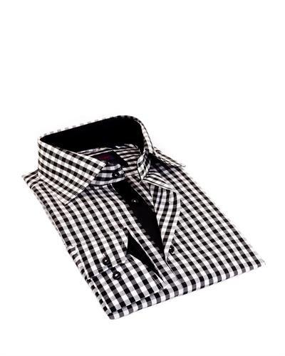 Martin Gordon by Brio Gingham Print Cotton Shirt