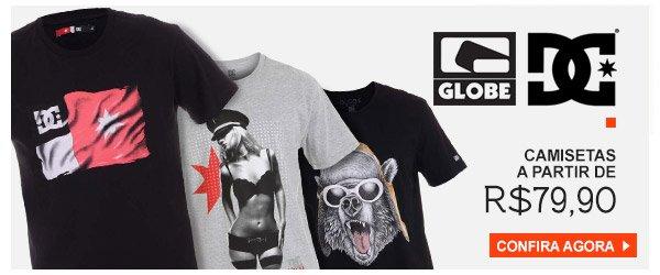 Camisetas DC Shoes e Globe a partir de 79,00