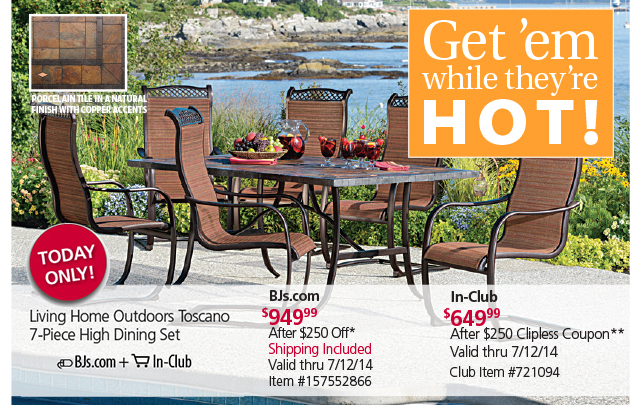 BJs Wholesale Club Act Fast Patio Furniture SAVINGS
