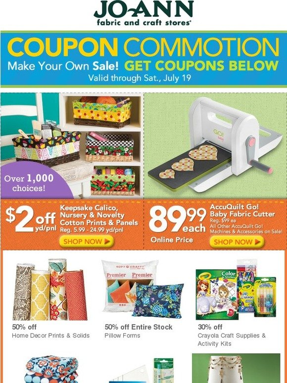 jo ann fabric and craft store coupon commotion starts