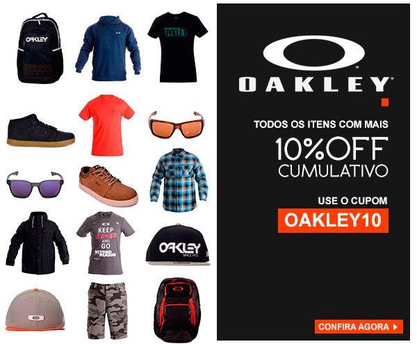 Oakley - Cupom de 10% OFF Cumulativo Valido para Todos Produtos