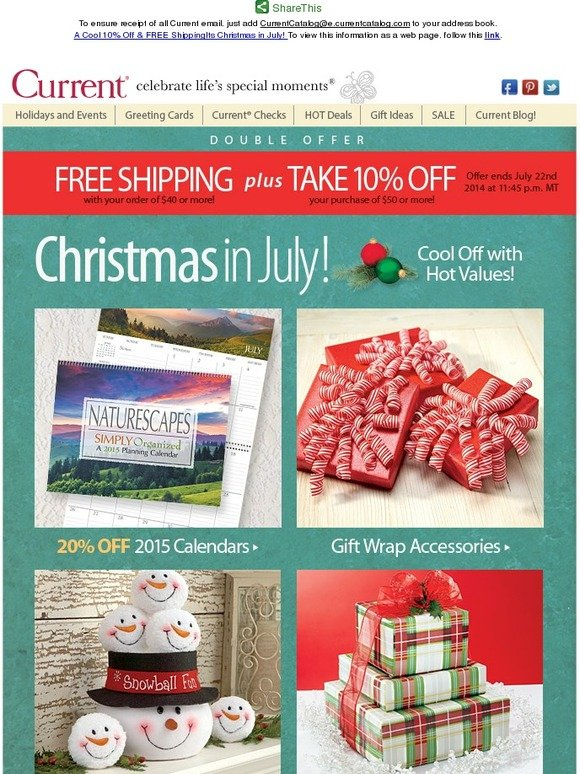Christmas In July Sale Ideas.Current Catalog A Cool 10 Off Free Shipping It S