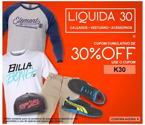 Liquida 30% - Cupom