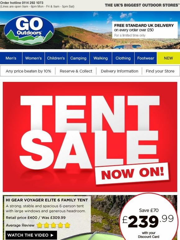 go outdoors tent sale now on in store and online save on. Black Bedroom Furniture Sets. Home Design Ideas