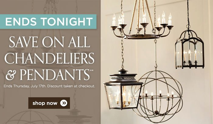 ballard designs lights out sale on all chandeliers
