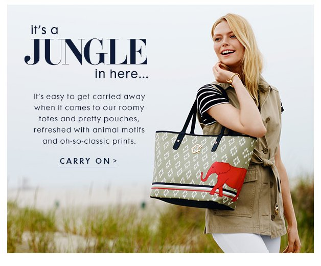 It's easy to get carried away when it comes to our roomy totes and pretty pouches,