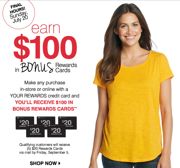 bostonstore com your rewards exclusive open a card earn 100 in