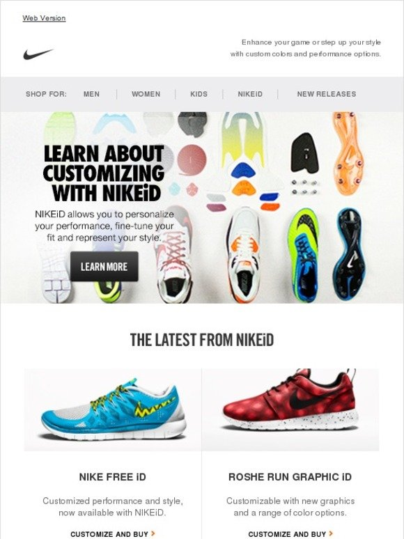 649a3d5496f0 Nike  Customize Your Perfect Shoe with NIKEiD