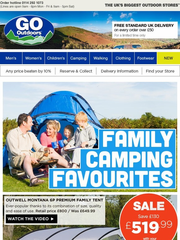 go outdoors five star family camping favourites great. Black Bedroom Furniture Sets. Home Design Ideas