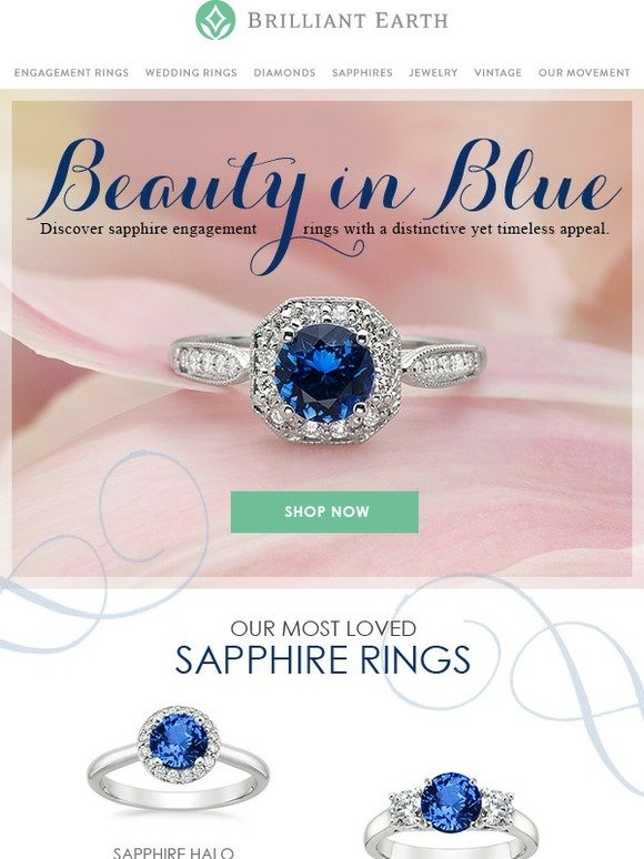 Brilliant Earth Distinctive Sapphire Engagement Rings Milled