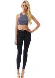 Plenty Blue Dry Coat High Waisted Jeggings