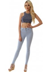 Plenty Bleach Sky Light Blue High Waisted Jeggings