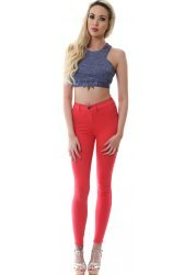 Plenty Raspberry Pink High Waisted Jeggings