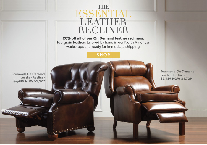 our summer essentials sale & Ethan Allen: Take 20% off all On Demand leather recliners. | Milled islam-shia.org