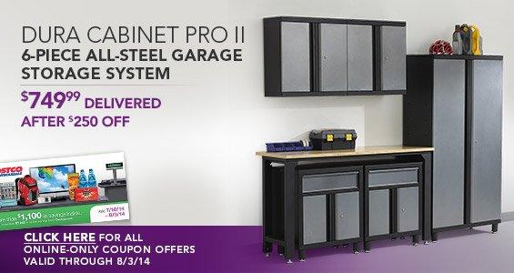 Charmant Dura Cabinet Pro II 6 Piece All Steel Garage Storage System. $749.99  Delivered