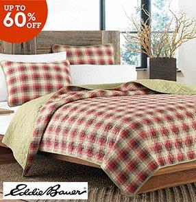 wayfair: lodge for less: eddie bauer bedding sets, fleece throws