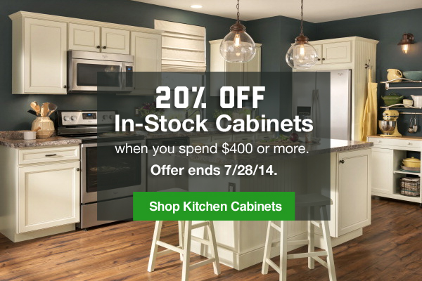 Lowes: Give Your Kitchen Some Love: 20% Off Cabinets
