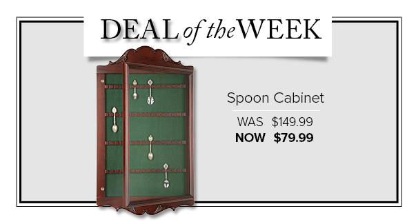 Deal Of The Week   Spoon Collectoru0027s Cabinet