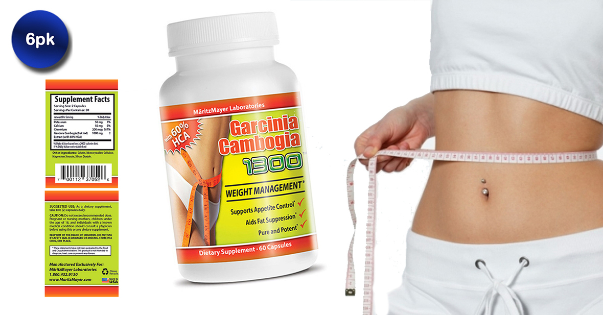 Mobstub 6 Pack All Natural Garcinia Cambogia 1300 With 60 Hca