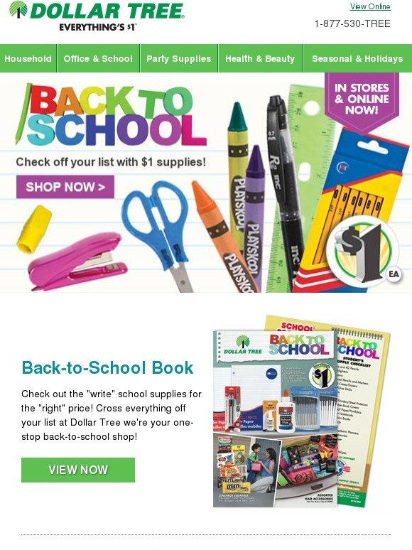 Dollar tree shop online for great back to school products for Dollar store items online