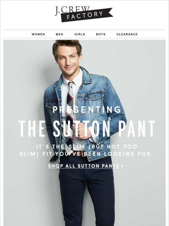 2e4bf38f J.Crew Factory: Meet the Sutton (and take 40% off all men's pants) | Milled