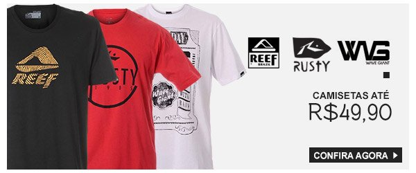 Camisetas Reef, Rusty, wg ate 49,90