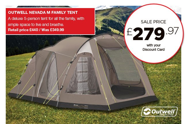 Outwell Nevada M Family Tent  sc 1 st  Milled & Go Outdoors: Donu0027t miss out on these sale favourites - limited ...
