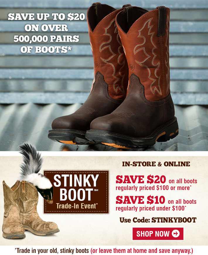 BootBarn.com: S-T-I-N-K-Y Boot: Save Up