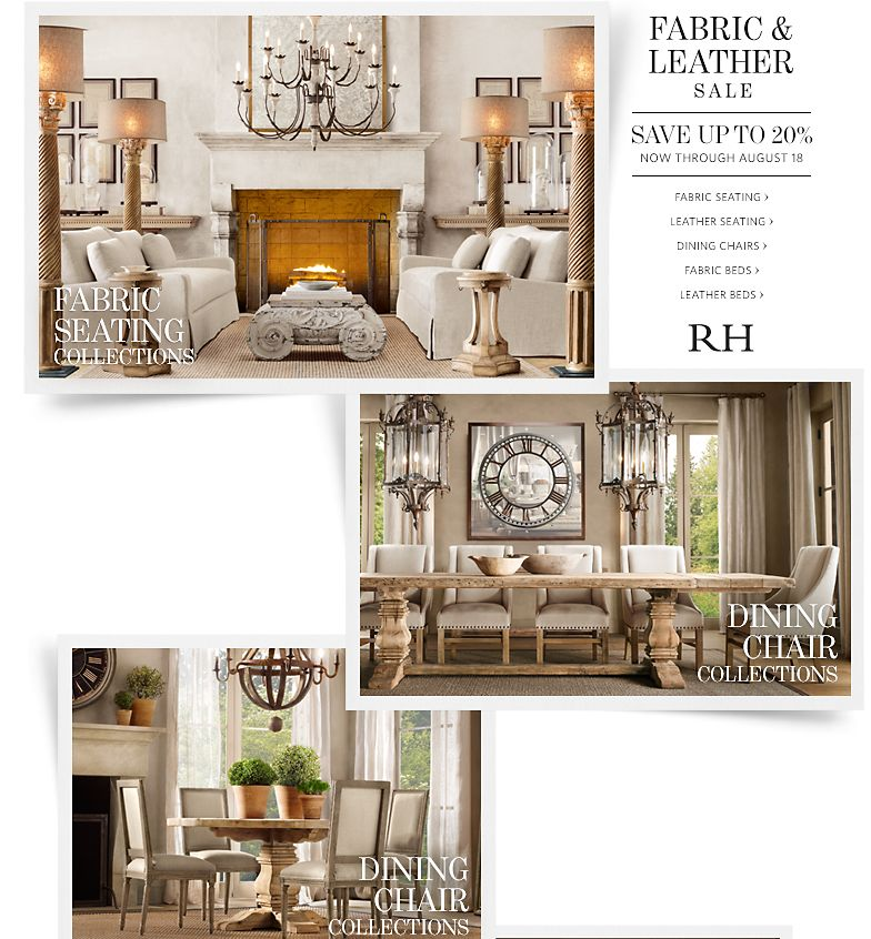 Restoration Hardware Sale: Restoration Hardware: Save Up To 20% At Our Fabric