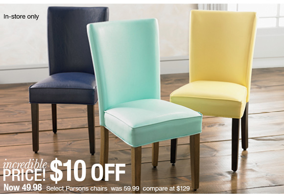 Select Parsons Chairs