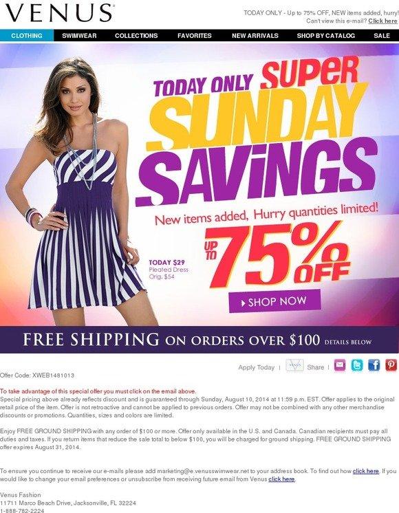 1 verified Venus coupon, promo code as of Nov Free Shipping on $+ Orders. Trust peers.ml for Swimwear savings%().
