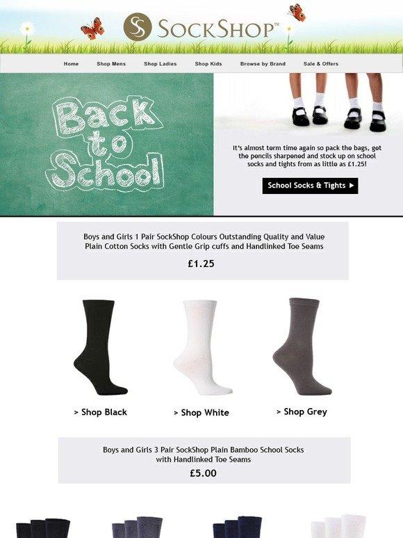 9231c0ed1 Dress Socks Boys and Girls 1 Pair SockShop Plain Bamboo Socks with Gentle  Grip and Handlinked Toes In Black