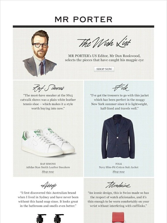 Mr Porter: See what's on our US editor's Wish List   Milled