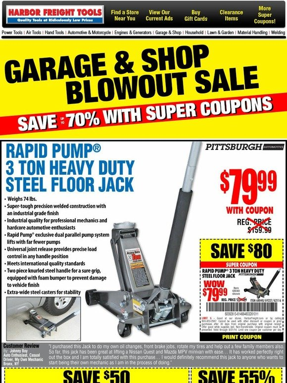 Garage in store coupons