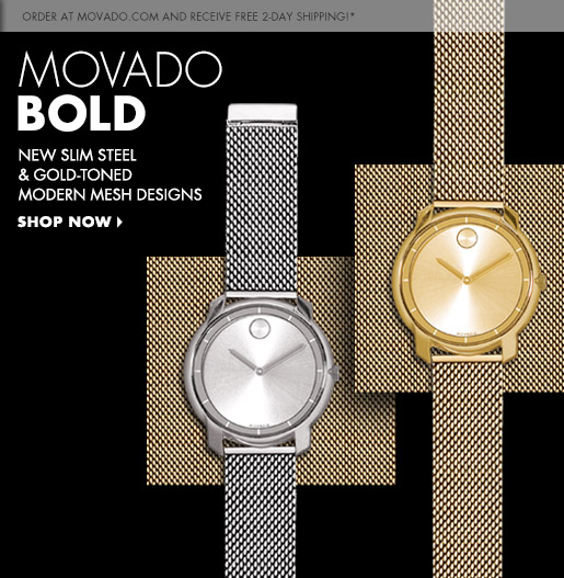 Movado  Introducing the Movado BOLD Mesh Watches  114f19c71f35