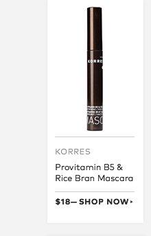 Korres Provitamin B5 & Rice Bran Mascara, $18