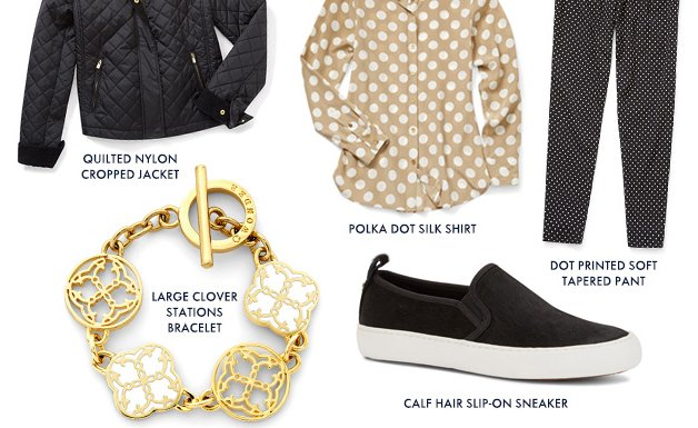 From chic classics to cheeky dots, don't be afraid to mix and match.