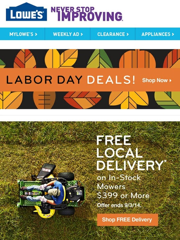 Lowes The Latest In Select Lawn Care Delivered Free Milled