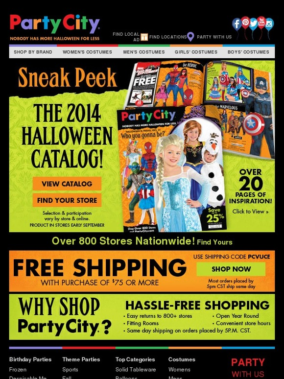 Party City: Sneak Peek: The 2014 Halloween Catalog | Milled
