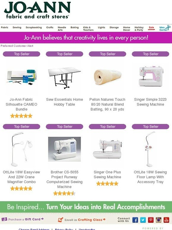 Jo Ann Fabric And Craft Store Preferred Customer Alert
