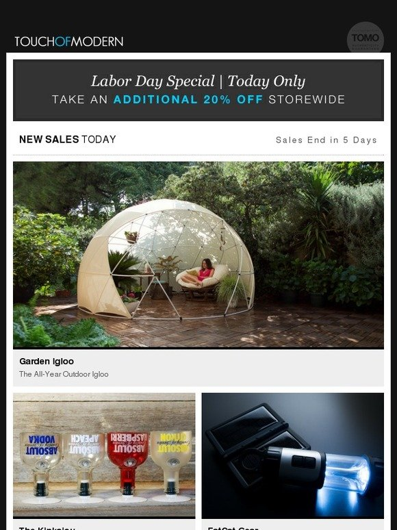 Touch Of Modern Today Only Additional 20 Off Sitewide