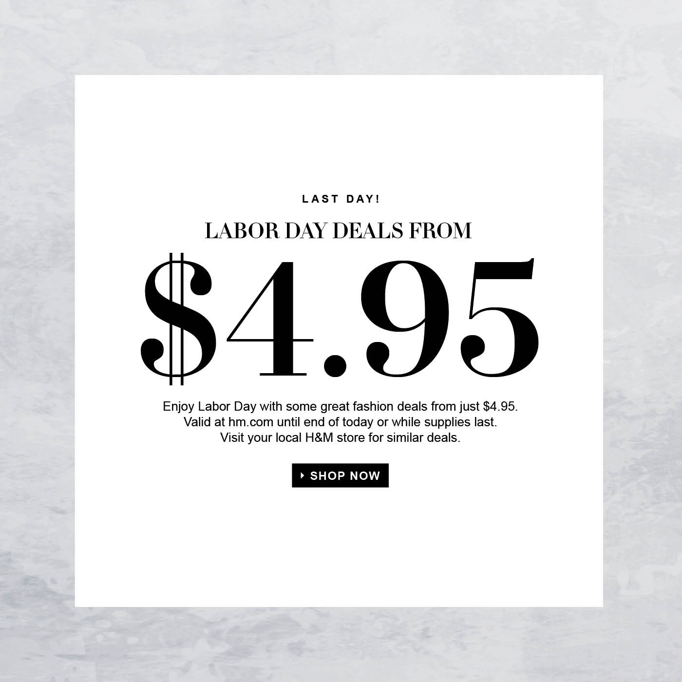 H M Last Day To Shop Labor Day Deals From 4 95 Milled