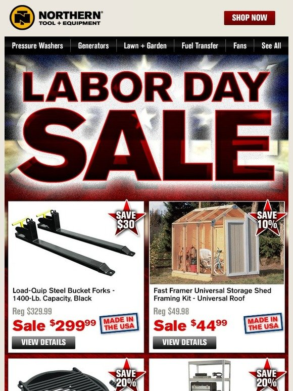 Northerntool Com Save With The Labor Day Sale Milled