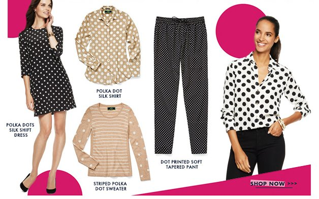 From bold to subtle, polka dots are on-trend and in the spotlight this season.