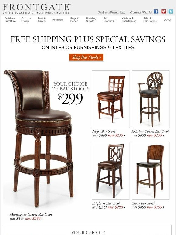 Super Frontgate Special Savings Free Shipping On Bar Stools Pdpeps Interior Chair Design Pdpepsorg