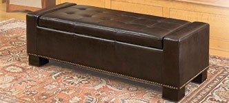La Jolla Bonded Leather Storage Ottoman