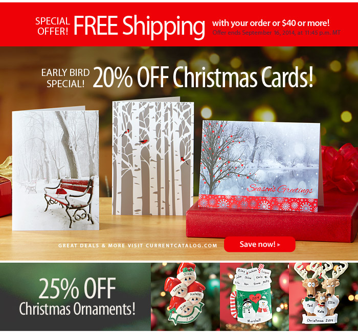 current catalog - Current Christmas Cards