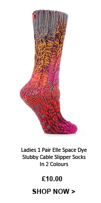 413999cda ... Knee High Socks In 3 Colours, Shop Ladies 1 Pair Elle Space Dye Slubby  Cable Slipper Socks In 2 Colours ...