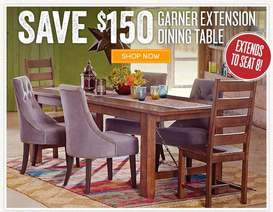 Cost Plus World Market Save 150 On Our 8 Seat Dining Table