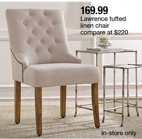 169.99 Lawrence Tufted Linen Chair ...